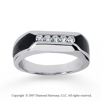 White Gold Modern Stylish yx 1 4 Carat Men s Diamond Ring