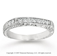 14k White Gold Elegant 1/4 Carat Diamond Anniversary Band