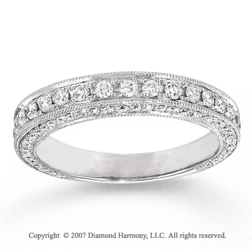 14k White Gold Prong 4/5 Carat Diamond Anniversary Band