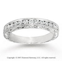 14k White Gold Elegant 2/5 Carat Diamond Anniversary Band