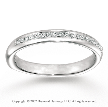 14k White Gold Prong 0.10 Carat Diamond Anniversary Band