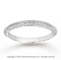 14k White Gold Round 1/6 Carat Diamond Anniversary Band