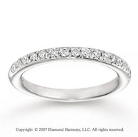 14k White Gold Fine 1/3 Carat Diamond Anniversary Band