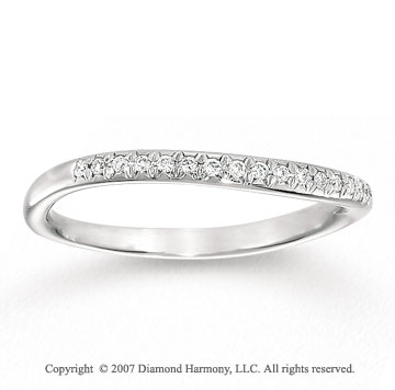 14k White Gold 0.10 Carat Diamond Anniversary Band