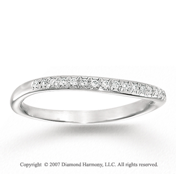 14k White Gold Classic Prong Diamond Anniversary Band