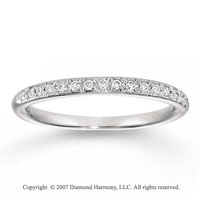 14k White Gold Stylish 1/6 Carat Diamond Anniversary Band