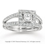 14k White Gold Princess 4/5 Carat Diamond Engagement Ring