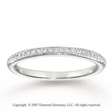14k White Gold Stylish Prong Diamond Anniversary Band