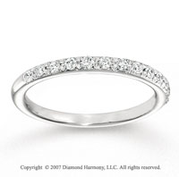 14k White Gold Classic 1/4 Carat Diamond Anniversary Band