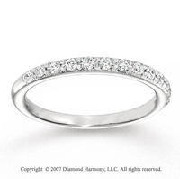 14k White Gold Stylish 1/5 Carat Diamond Anniversary Band