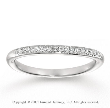 14k White Gold Elegant 1/6 Carat Diamond Anniversary Band