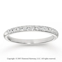 14k White Gold Elegant 1/3 Carat Diamond Anniversary Band