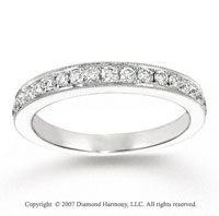 14k White Gold Stylish 0.70 Carat Diamond Anniversary Band