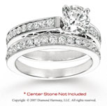 14k White Gold Side Stone 1 1/3 Carat Diamond Bridal Set