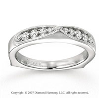 14k White Gold Fine 1/5 Carat Diamond Anniversary Band