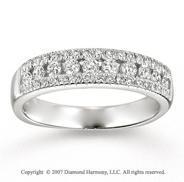 14k White Gold Classic 1/2 Carat Diamond Anniversary Band
