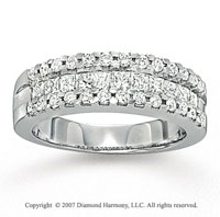14k White Gold Princess Prong Diamond Anniversary Band