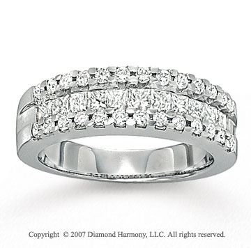 14k White Gold Side Stone 2 1/3 Carat Diamond Bridal Set