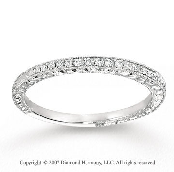 14k White Gold Round Prong Diamond Anniversary Band