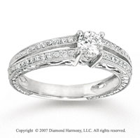 14k White Gold Classy 1/2 Carat Diamond Engagement Ring