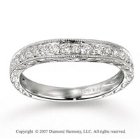 14k White Gold Stylish 1/3 Carat Diamond Anniversary Band