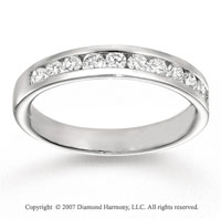 14k White Gold Channel 0.60 Carat Diamond Anniversary Band
