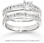 14k White Gold Classic 1 1/5 Carat Diamond Bridal Set
