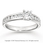 14k White Gold Channel 3/4 Carat Diamond Engagement Ring
