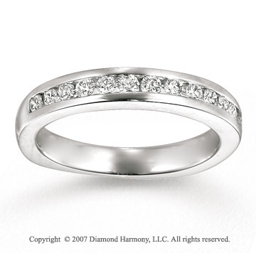 14k White Gold Channel 2/5 Carat Diamond Anniversary Band