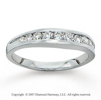 14k White Gold Stylish 1/2 Carat Diamond Anniversary Band