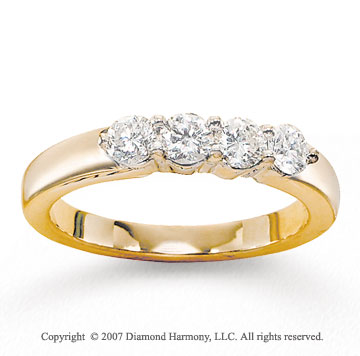 14k Yellow Gold 0.70 Carat Diamond Anniversary Band