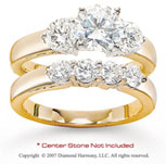 14k Yellow Gold Side Stone 1.70 Carat Diamond Bridal Set