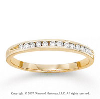 14k Yellow Gold Channel 1/6 Carat Diamond Anniversary Band