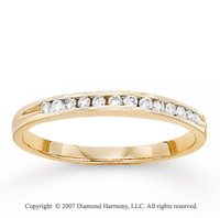 14k Yellow Gold Side Stone Channel Diamond Bridal Set