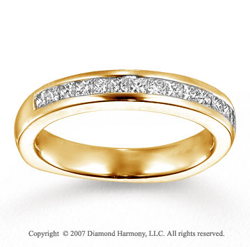 14k Yellow Gold Side Stone 1.05 Carat Diamond Bridal Set