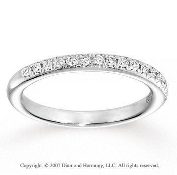 14k White Gold Prong 0.40 Carat Diamond Anniversary Band