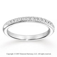 14k White Gold Prong 1/5 Carat Diamond Anniversary Band