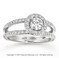 14k White Gold Elegant 3/4 Carat Diamond Engagement Ring