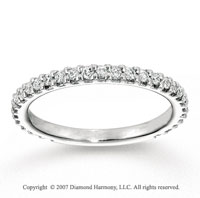 14k White Gold Prong 2/5 Carat Diamond Anniversary Band