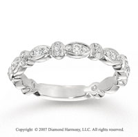 14k White Gold Prong 1/3 Carat Diamond Anniversary Band