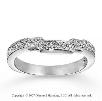 14k White Gold Prong 1/6 Carat Diamond Anniversary Band