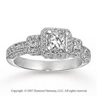 14k White Gold Prong 0.95 Carat Diamond Engagement Ring