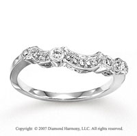 14k White Gold Fine 0.15 Carat Diamond Anniversary Band