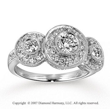 14k White Gold Classic 1 1/4 Carat Diamond Engagement Ring