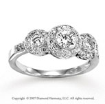 14k White Gold Fine 3/4 Carat Diamond Engagement Ring