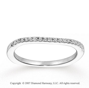 14k White Gold Round 0.10 Carat Diamond Anniversary Band