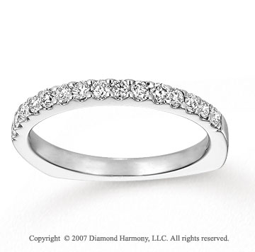 14k White Gold Round 2/5 Carat Diamond Anniversary Band
