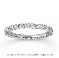 14k White Gold Round 1 1/3 Carat Diamond Side Stone Ring