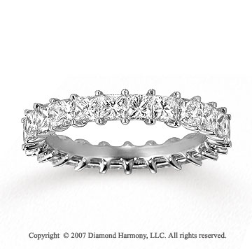 14k White Gold Princess 2 4/5 Carat Diamond Eternity Ring