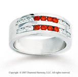 14k White Gold Round 1.60 Carat Red Diamond Ring